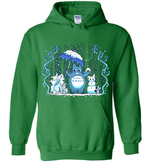 Winter Forest Friends-Anime Hoodies-Art Of Sarah Richford|Threadiverse