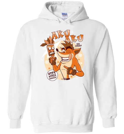 Aku Aku Ice Cream-Gaming Hoodies-Fernando Solar Tees|Threadiverse