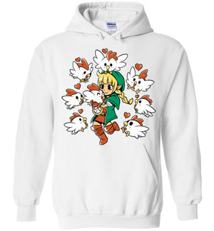 Linkle The Cucco Queen-Gaming Hoodies-Art Of Sarah Richford|Threadiverse