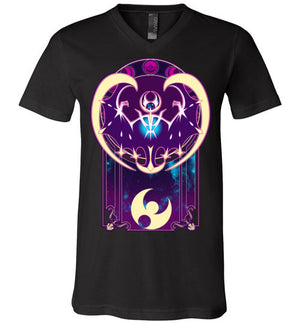 Art of the Moon-Gaming V-Necks-Chocolate Raisins Art|Threadiverse
