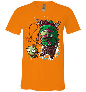 Zim Stole Christmas-Animation V-Necks-CoD (Create Or Destroy) Designs|Threadiverse