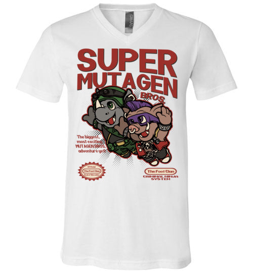 Super Mutagen Bros-Pop Culture V-Necks-Angzdu|Threadiverse