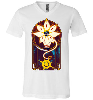 Art of the Sun-Gaming V-Necks-Chocolate Raisins Art|Threadiverse