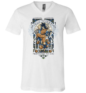 Ally To Good-Anime V-Necks-CoD (Create Or Destroy) Designs|Threadiverse