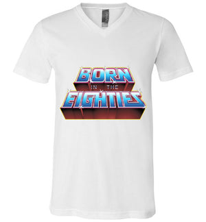Born In The 80s-Pop Culture V-Necks-Skullpy|Threadiverse