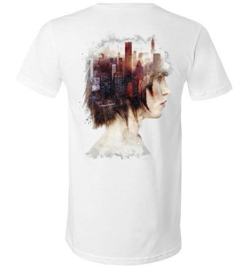 Lady In The City-Indie V-Necks-Barrett Biggers|Threadiverse