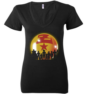 Z Warriors-Anime Women's V-Necks-Ddjvigo|Threadiverse