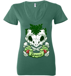 Choose Grass-Gaming Women's V-Necks-Chocolate Raisins Art|Threadiverse