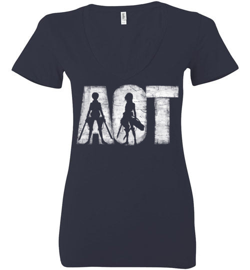 AOT-Anime Women's V-Necks-Ddjvigo|Threadiverse