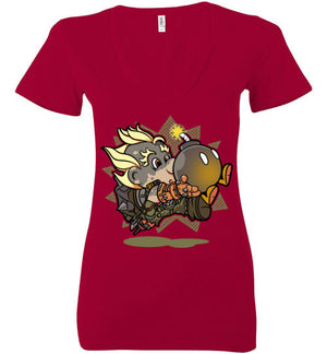 Super Junkboy-Gaming Women's V-Necks-Angzdu|Threadiverse
