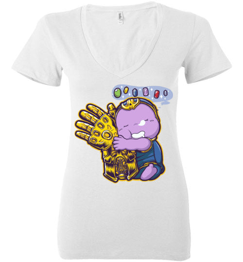 Sweet Dreams-Comics Women's V-Necks-Angzdu|Threadiverse