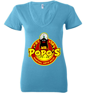 Popo's Dojo-Anime Women's V-Necks-Carlo1956|Threadiverse