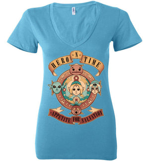 Appetite For Salvation-Gaming Women's V-Necks-Typhoonic Artwork|Threadiverse