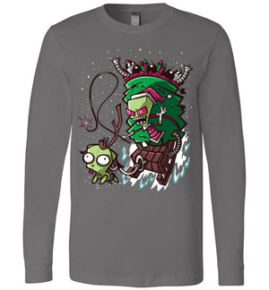 Zim Stole Christmas-Animation Long Sleeves-CoD (Create Or Destroy) Designs|Threadiverse