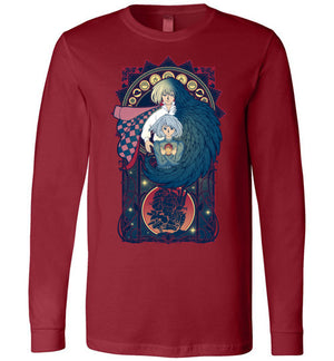 Art of a Moving Castle-Anime Long Sleeves-Chocolate Raisins Art|Threadiverse