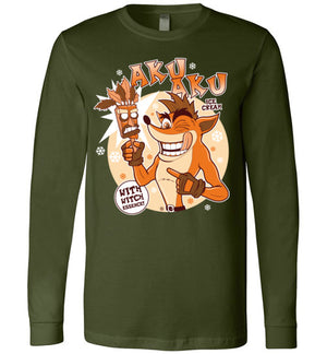 Aku Aku Ice Cream-Gaming Long Sleeves-Fernando Solar Tees|Threadiverse
