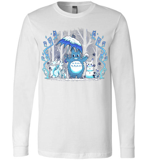 Winter Forest Friends-Anime Long Sleeves-Art Of Sarah Richford|Threadiverse