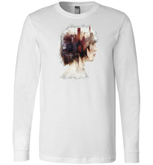 Lady In The City-Indie Long Sleeves-Barrett Biggers|Threadiverse