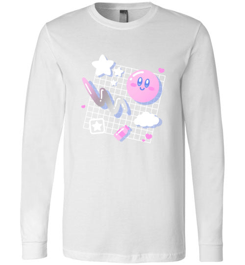 Kirby Aesthetic-Gaming Long Sleeves-Minilla|Threadiverse