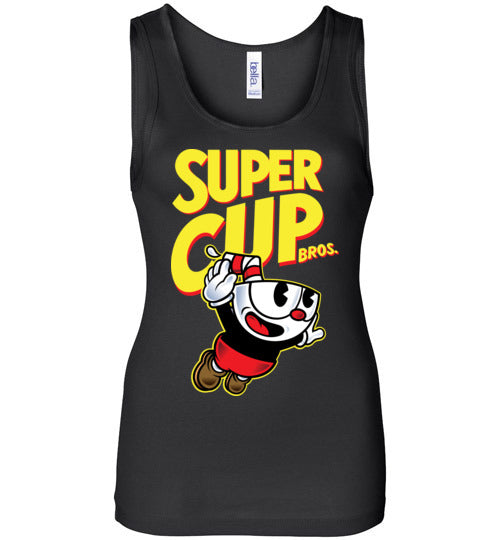 Cup Head Bros-Gaming Women's Tank Tops-Demonigote|Threadiverse