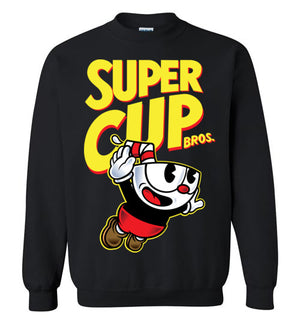 Cup Head Bros-Gaming Sweatshirts-Demonigote|Threadiverse