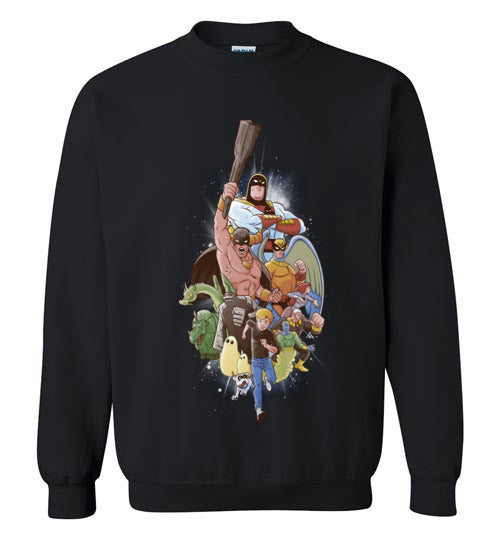 Childhood Heroes-Animation Sweatshirts-Skullpy|Threadiverse