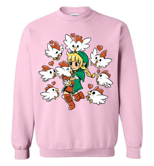 Linkle The Cucco Queen-Gaming Sweatshirts-Art Of Sarah Richford|Threadiverse