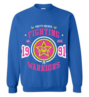 Fighting Senshi-Anime Sweatshirts-Machmigo|Threadiverse