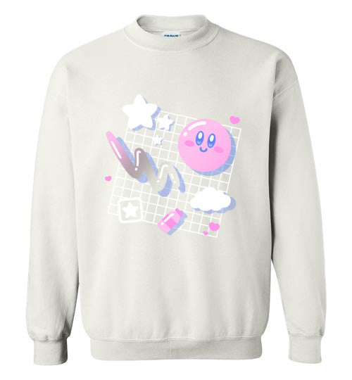 Kirby Aesthetic-Gaming Sweatshirts-Minilla|Threadiverse