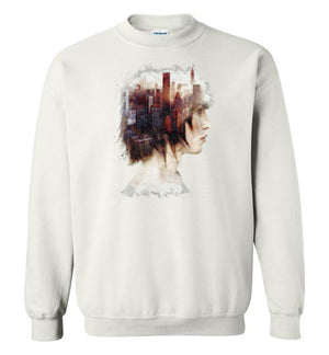 Lady In The City-Indie Sweatshirts-Barrett Biggers|Threadiverse