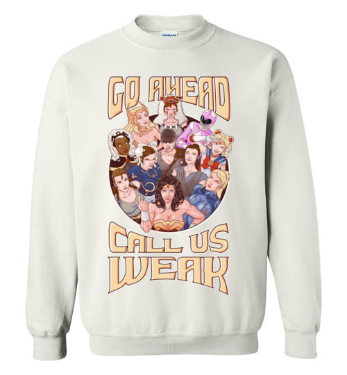CALL US WEAK-Animation Sweatshirts-Skullpy|Threadiverse