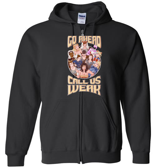 CALL US WEAK-Animation Hoodies-Skullpy|Threadiverse