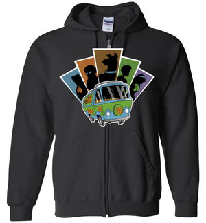 Mystery Pals-Animation Zipper Hoodies-Skullpy|Threadiverse