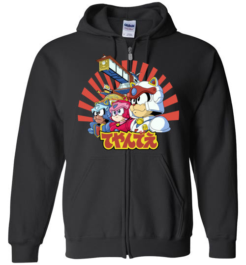Samurai Pizza Cats-Animation Zipper Hoodies-Skullpy|Threadiverse