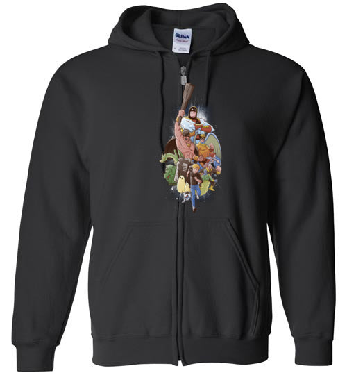 Childhood Heroes-Animation Zipper Hoodies-Skullpy|Threadiverse