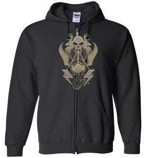 Art Of Wizardry-Pop Culture Zipper Hoodies-Chocolate Raisins Art|Threadiverse