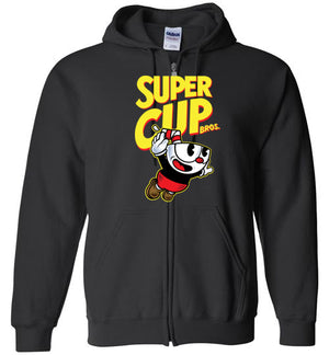 Cup Head Bros-Gaming Hoodies-Demonigote|Threadiverse