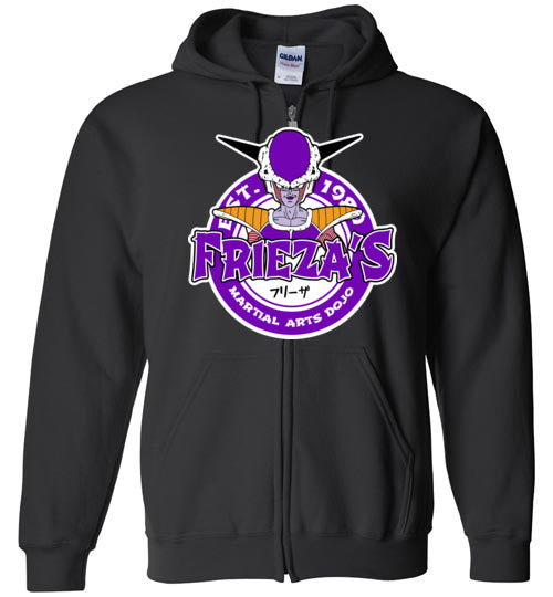 Frieza's Dojo-Anime Zipper Hoodies-Carlo1956|Threadiverse