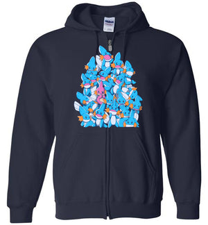 A Pile of Water Starters-Gaming Zipper Hoodies-Art Of Sarah Richford|Threadiverse