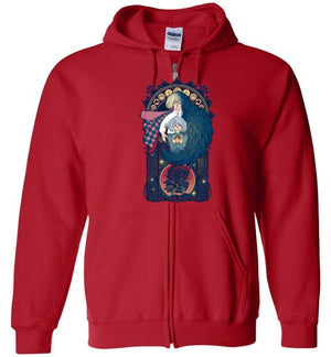 Art of a Moving Castle-Anime Zipper Hoodies-Chocolate Raisins Art|Threadiverse