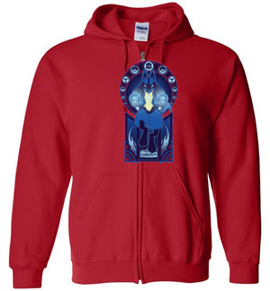 Art Of The Fighter-Gaming Zipper Hoodies-Chocolate Raisins Art|Threadiverse