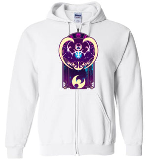 Art of the Moon-Gaming Zipper Hoodies-Chocolate Raisins Art|Threadiverse