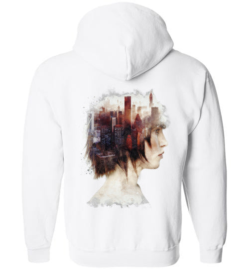 Lady In The City-Indie Zipper Shirts-Barrett Biggers|Threadiverse