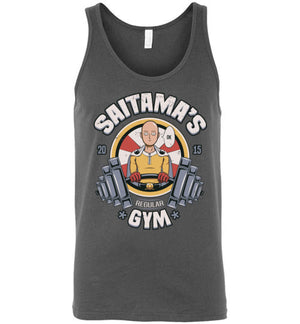 Saitama's Gym-Anime Tank Tops-Typhoonic Artwork|Threadiverse