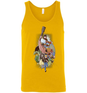 Childhood Heroes-Animation Tank Tops-Skullpy|Threadiverse