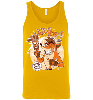 Aku Aku Ice Cream-Gaming Tank Tops-Fernando Solar Tees|Threadiverse