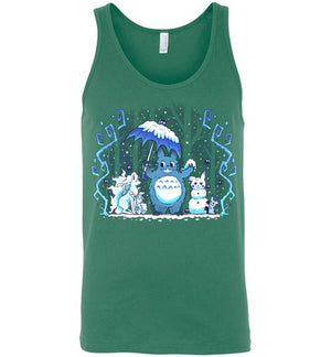 Winter Forest Friends-Anime Tank Tops-Art Of Sarah Richford|Threadiverse