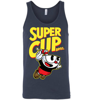 Cup Head Bros-Gaming Tank Tops-Demonigote|Threadiverse