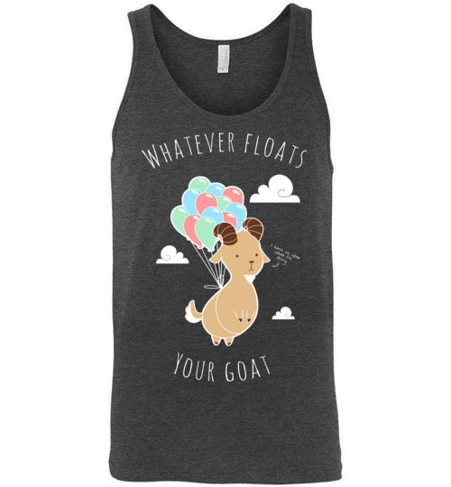 Whatever Floats Your Goat-Indie Tank Tops-Chocolate Raisins Art|Threadiverse