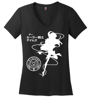 The Senshi Games Venus-Anime Women's Perfect Weight V-Necks-Machmigo|Threadiverse